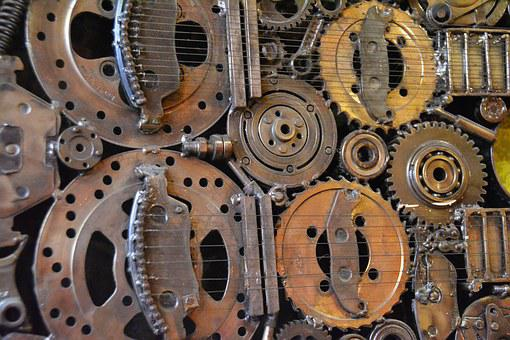 Grunge, Gears, Old, Technology, Vintage, Retro, Work