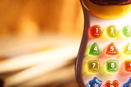 Toy, Button, Figures, Letters, Triugol'niki, Wheels