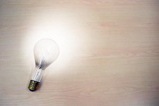 Light Bulb, Idea, Light, Dim, Bright, On, Turn