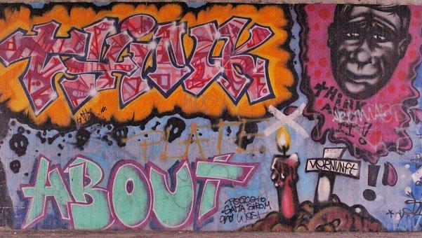 Grafifti, Street Art, Think About It, Wisdom, Urban