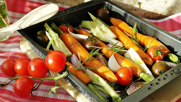 Vegetables, Vegetable Pan, Barbecue, Tomatoes, Carrots