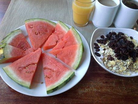 Breakfast, Health, Watermelon, Juice