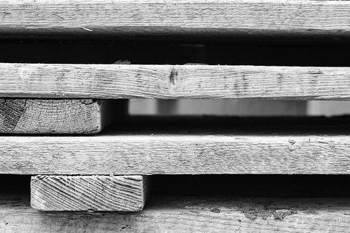 Building, Work, Leaves, Pallets, Wood, Industry