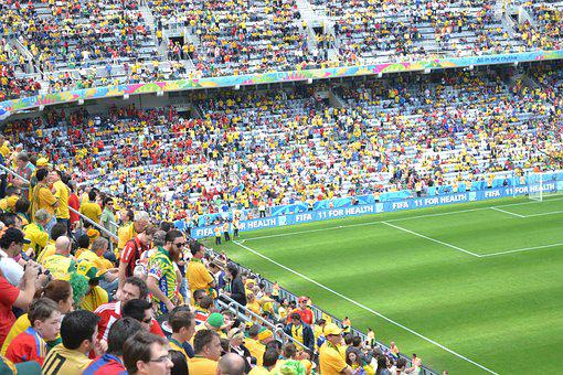 Football, Lawn, Twisted, Stadium, Crown, World