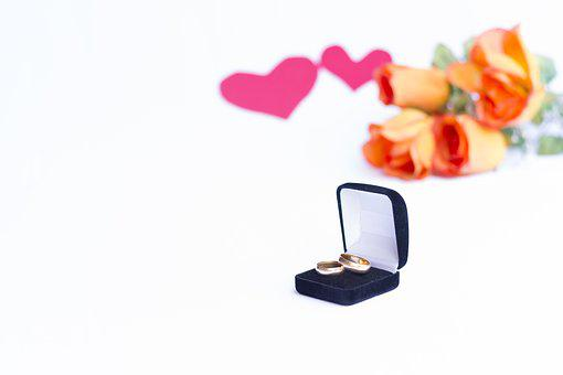 Rings, Heart, Alliance, Flowers, Valentine's Day
