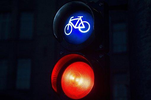 Bike, Traffic Lights, Red, Light Signal, Road