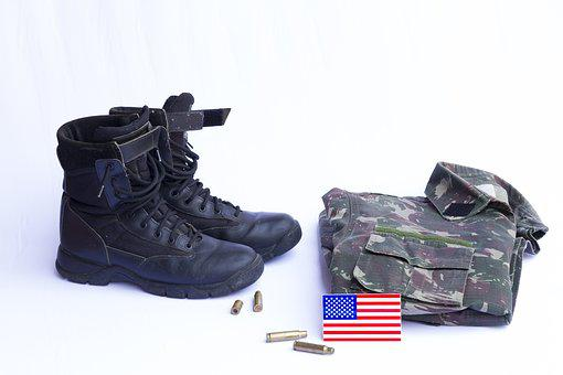 Boots, Military Uniform, Flag Uses, Projectile