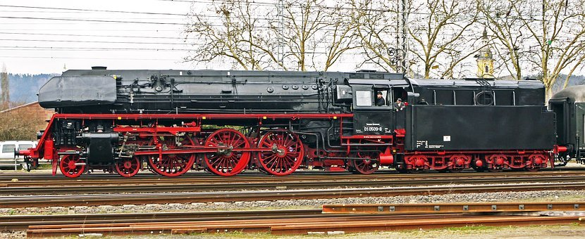Steam Locomotive, Express Train, Br01, Br 01, Dr