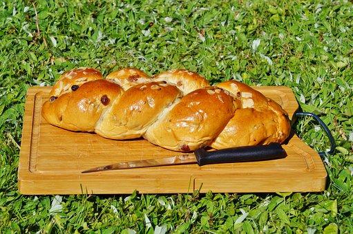 Raisin Braid, Cake, Plait, Hefekranz, Easter Braid