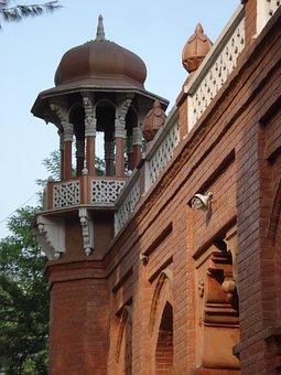 Front Of Curzon Hall, British Raj-era Building, Dhaka