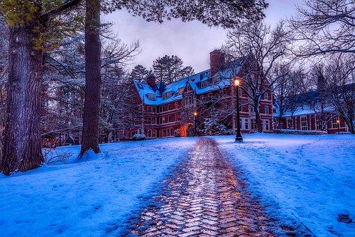 School, New Hampshire, Buildings, Education, Landscape