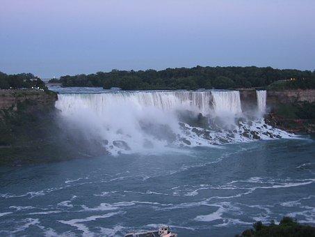 Niagara Falls, Niagara, Falls, Water, Waterfall, River