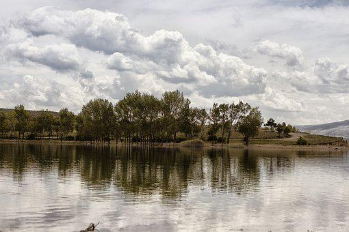 Nature, Dam, Lake, Landscape, Turkey, Tree, Green