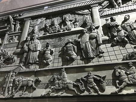 Stone, Sculpture, China, Guangdong, Chaozhou