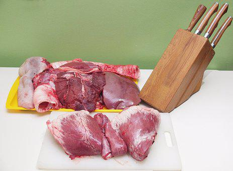 Meat, Knives, Knife, Red Meat, Food, Dinner, Cut
