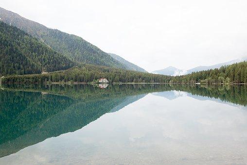 Lake, Mirroring, Reflection, Mood, Mountains