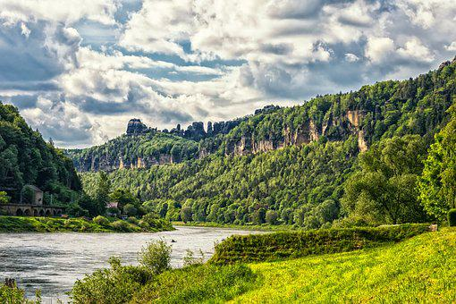 Mountains, Elbe, Elbe Sandstone Mountains