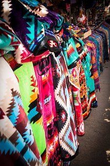 Rugs, Colorful Rugs, Santa Fe, New Mexico