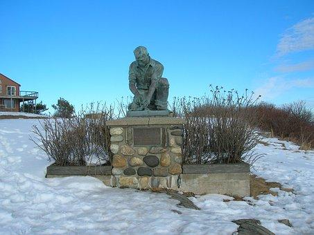 Fisherman, Monument, Ocean, Lands End, Landmark