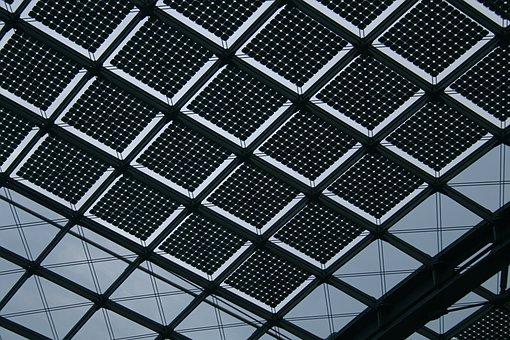 Pattern, Silhouette, Grid, Train, Station, Berlin