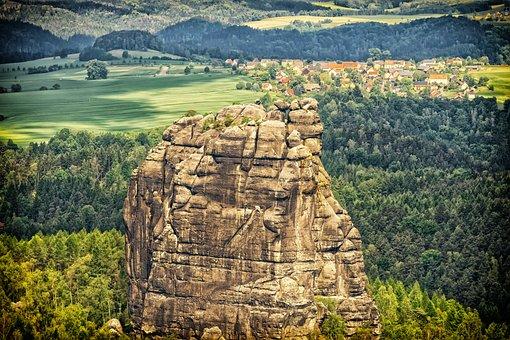 Landscape, Rock, Nature, Green, Sand Stone, Climb