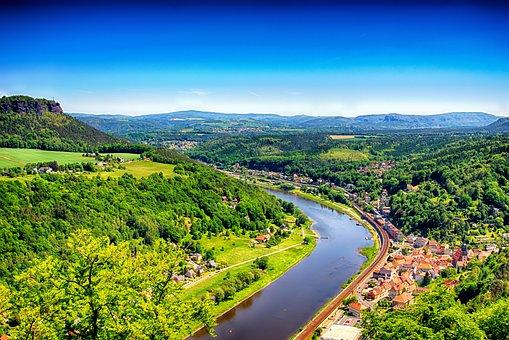 Landscape, Elbe Valley, Saxon Switzerland