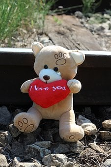 Teddy Bear Crying, Railway, Stop Child Suicide