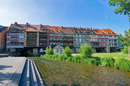 Chandler Bridge, Erfurt, Thuringia Germany, Germany