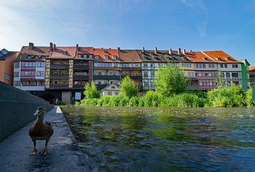 Chandler Bridge, Erfurt, Thuringia Germany, Germany