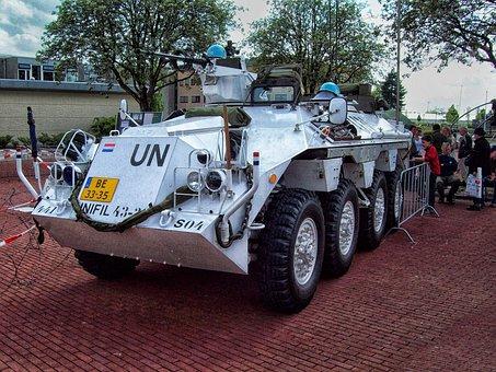 Army, Un, Blauwhelm, Vehicle, Military Vehicle, Unifil