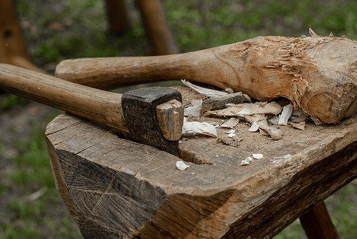 Axe, Tool, Wood, Carpentry