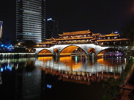 Chengdu, Anshun Covered Bridge, Nine Eye Bridge