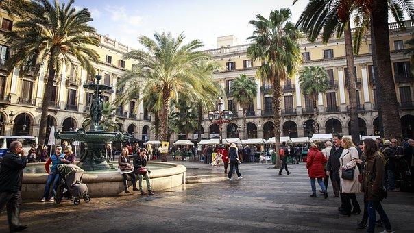 Barcelona, Square, Spain, Urban, City, Catalonia