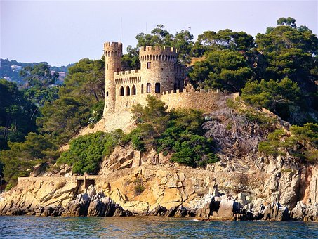 Sant Joan, Costa Brava, Castle, Rock, Sea