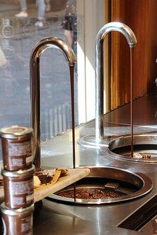Chocolate, Liquid, Fountain