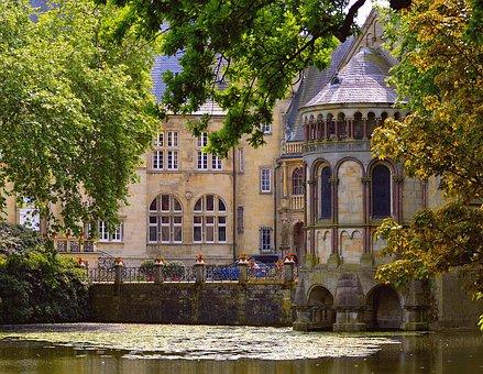 Castle, Darfeld, Moated Castle, Water, Historically
