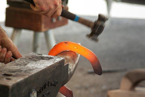Blacksmith, Anvil, Hammer, Farrier, Horseshoe