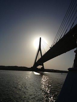 Bridge International, Guadiana River, River, Sky, Water