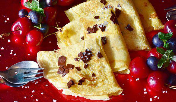 Pancakes, Eispalatschinken, Ice, Chocolate