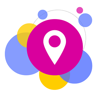 Bubbles, Pin, Locator, Locations, Directions