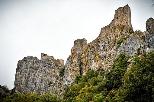 Peyrepertuse, Medieval, Castle, Cathar, High-cobières
