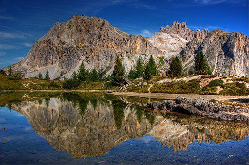 Dolomites, Lagazuoi, Mountains, Alpine, Nature