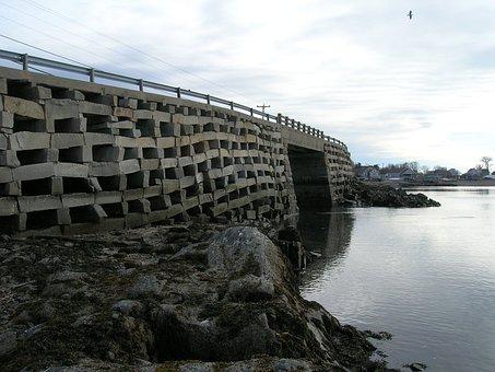Cribstone, Bridge, Ocean, Reflection, Unique, Granite