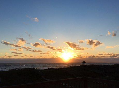 Sunrise, Morning, Dawn, Atlantic, Ocean, Sea, Beach