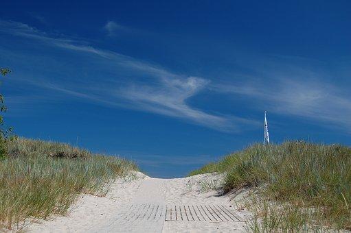 Beach, Sand, Oland, Holiday, Summer, Dunes, Himmel