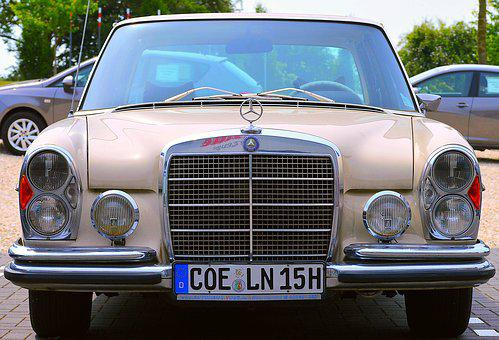 Mercedes Benz, Oldtimer, 300sel, Auto, Vehicle, Elegant