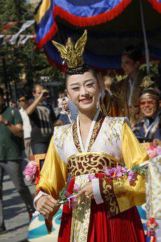 Chinese, Parade, Colorful Outfit, Festival