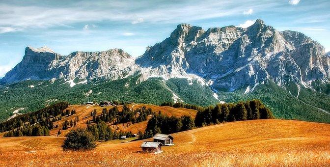Dolomites, Pralongia Alm, Mountains, South Tyrol, Italy