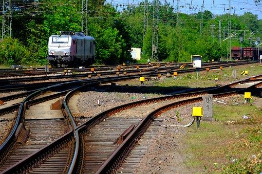 Gleise, Seemed, Train, Railway, Railroad Tracks