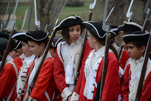 Brittish War, War, Students, Red And White